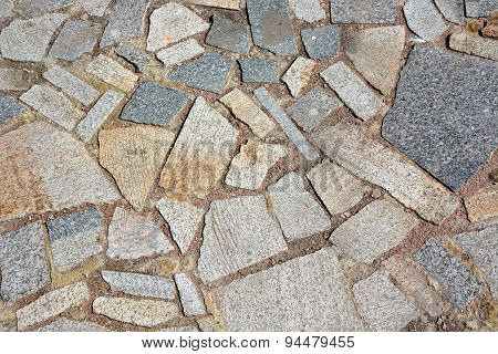 Stones As A Road Outdoor. Picture Can Be Used As A Background