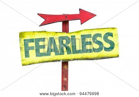 Fearless sign isolated on white