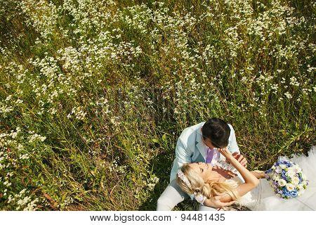 Bride On His Lap