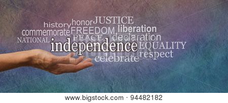 National Independence Day Website Banner