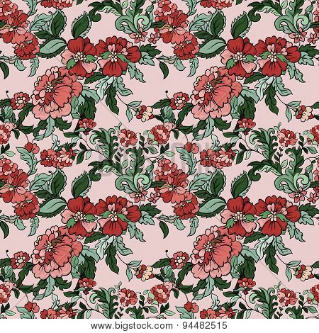 Beautiful floral seamless pattern.