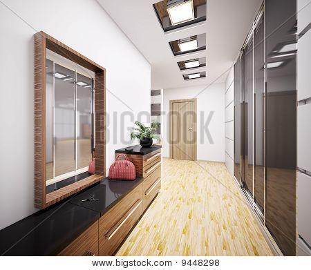 Moderne Vestibül Interior 3D