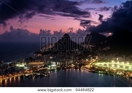 Dramatic View of Rio de Janeiro by Sunset