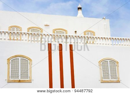 Architectural detail in the Medieval Portuguese City of Albufeira, Portugal, Europe