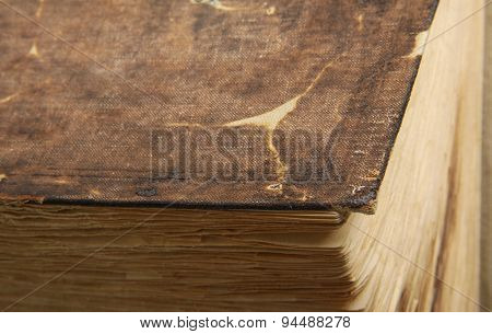 Vintage old book on white background