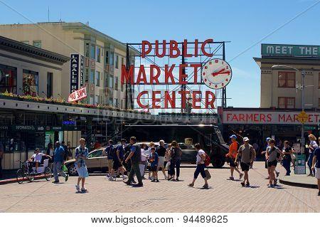 Pike Place Public Market Center Sign