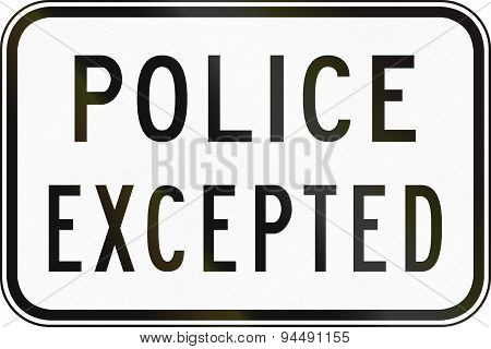 Police Excepted In Australia