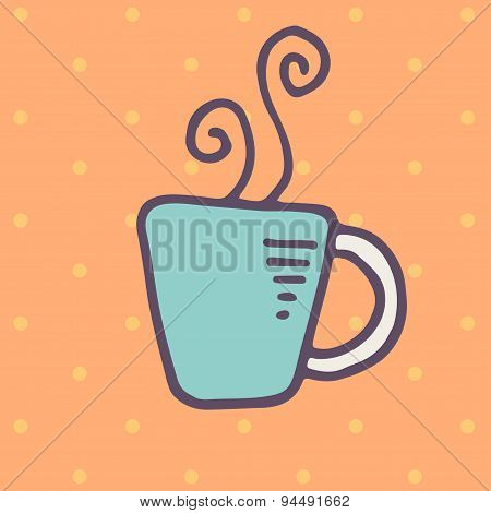 Cup of hot drink icon