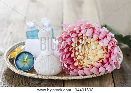 Spa Theme Object On Wood Background