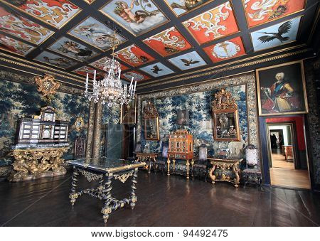 Royal room of Rosenborg palace