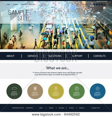 Website Design for Your Business with Unique Header Background