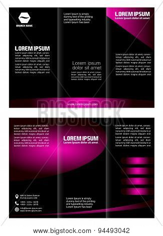 Trifold Brochure Design Vector Template