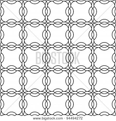 Black And White Geometric Seamless Pattern Chinese Style, Abstract Background.