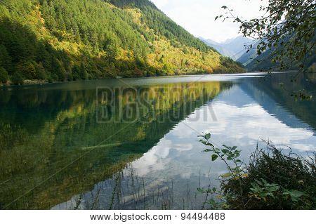 Lake in Jiuzhaigou, Sichuan, China