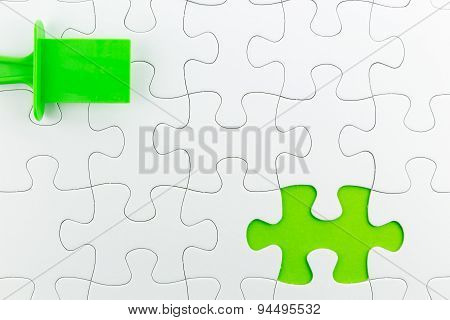 Jigsaw Puzzle Use For Business Background