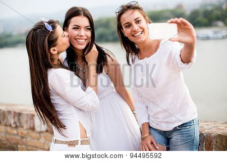 Young Women On The Waterfront
