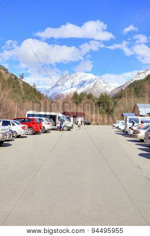 Caucasus. Valley Of Narzan. Parking