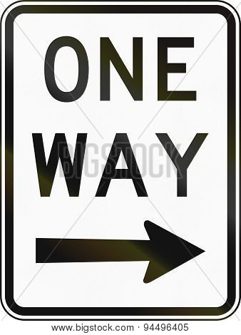 One Way Traffic To The Right In Australia