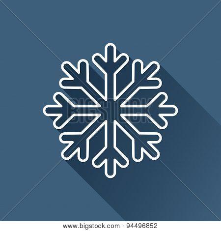 Vector snowflake icon. Eps10