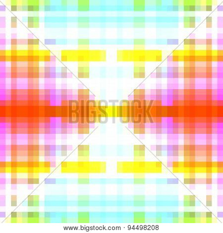Soft bright white blue pink orange green yellow pixelated background