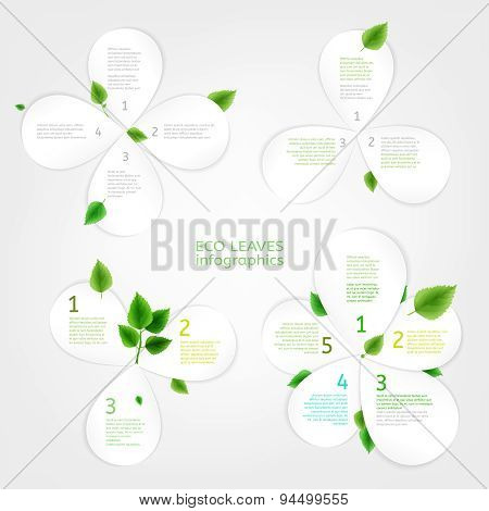 Paper Leaves infographic 01 A