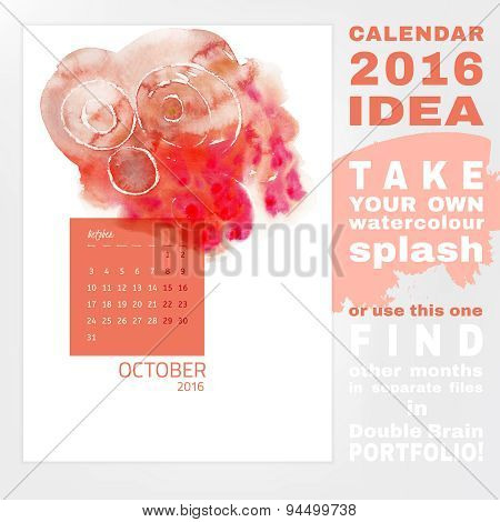 Calendar 2016 watercolor
