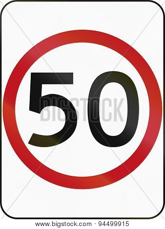 Speed Limit 50 In Australia