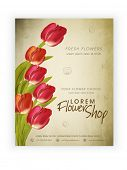 stock photo of flower shop  - Flower Shop template - JPG