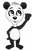 picture of pandas  - Illustration of happy panda waving isolated on a white background - JPG