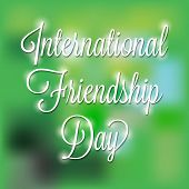 stock photo of friendship day  - illustration of shiny text for Friendship Day - JPG