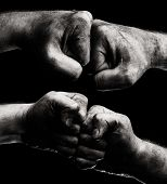 pic of clenched fist  - Resistance - JPG