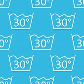 picture of wash-basin  - Image of 30 degrees wash sign - JPG