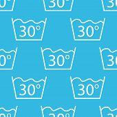 foto of wash-basin  - Image of 30 degrees wash sign - JPG