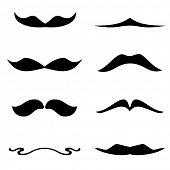 picture of rogue  - Set of retro gentelmen mustaches on white background  - JPG