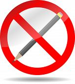 picture of bans  - Ban write pencil - JPG