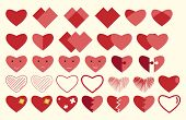 stock photo of broken hearted  - Vector hearts collection - JPG