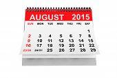 image of august calendar  - 2015 year calendar - JPG