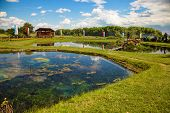 stock photo of chapels  - Chapel on the water in Radecznica Poland - JPG