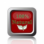 image of 100 percent  - 100 percent natural icon - JPG