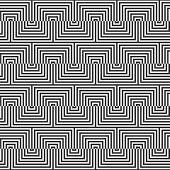 stock photo of zigzag  - Geometric background with black and white stripes - JPG