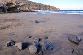 picture of atlantic ocean  - Dry Lava Coast Beach in the Atlantic Ocean - JPG
