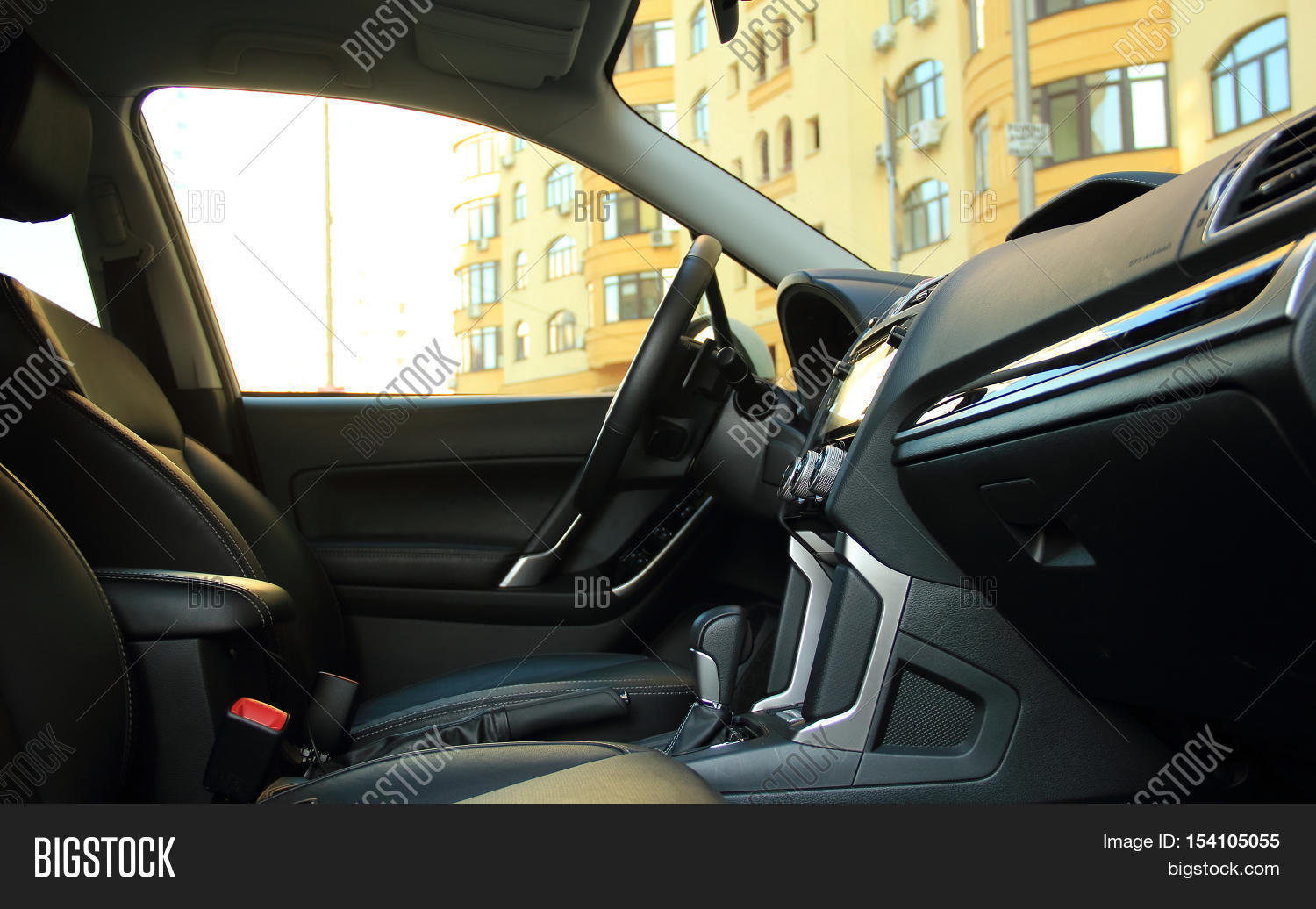 car interior automatic gearbox side image photo bigstock. Black Bedroom Furniture Sets. Home Design Ideas