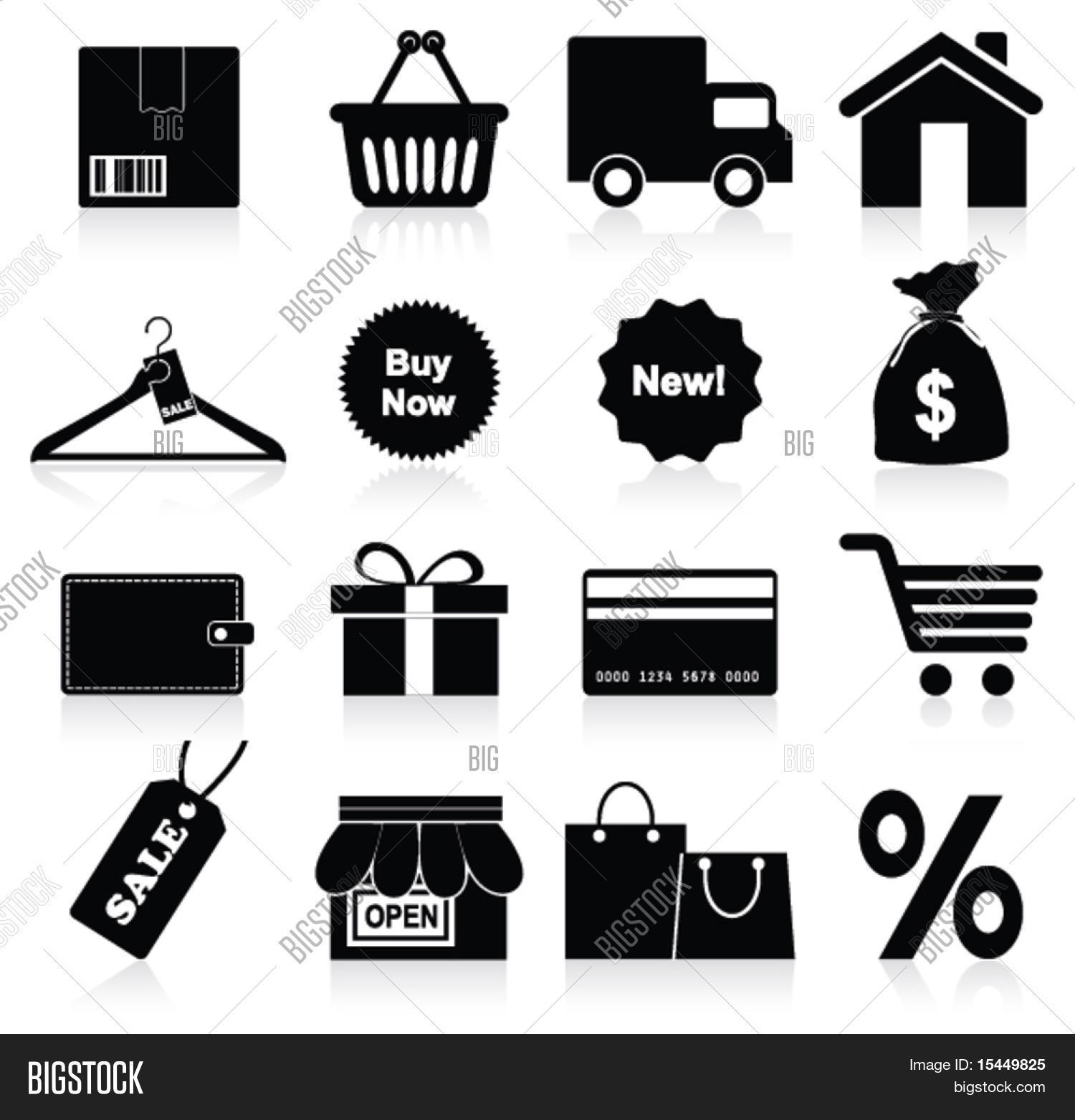 Shopping icon. Vector Stock Vector & Stock Photos | Bigstock