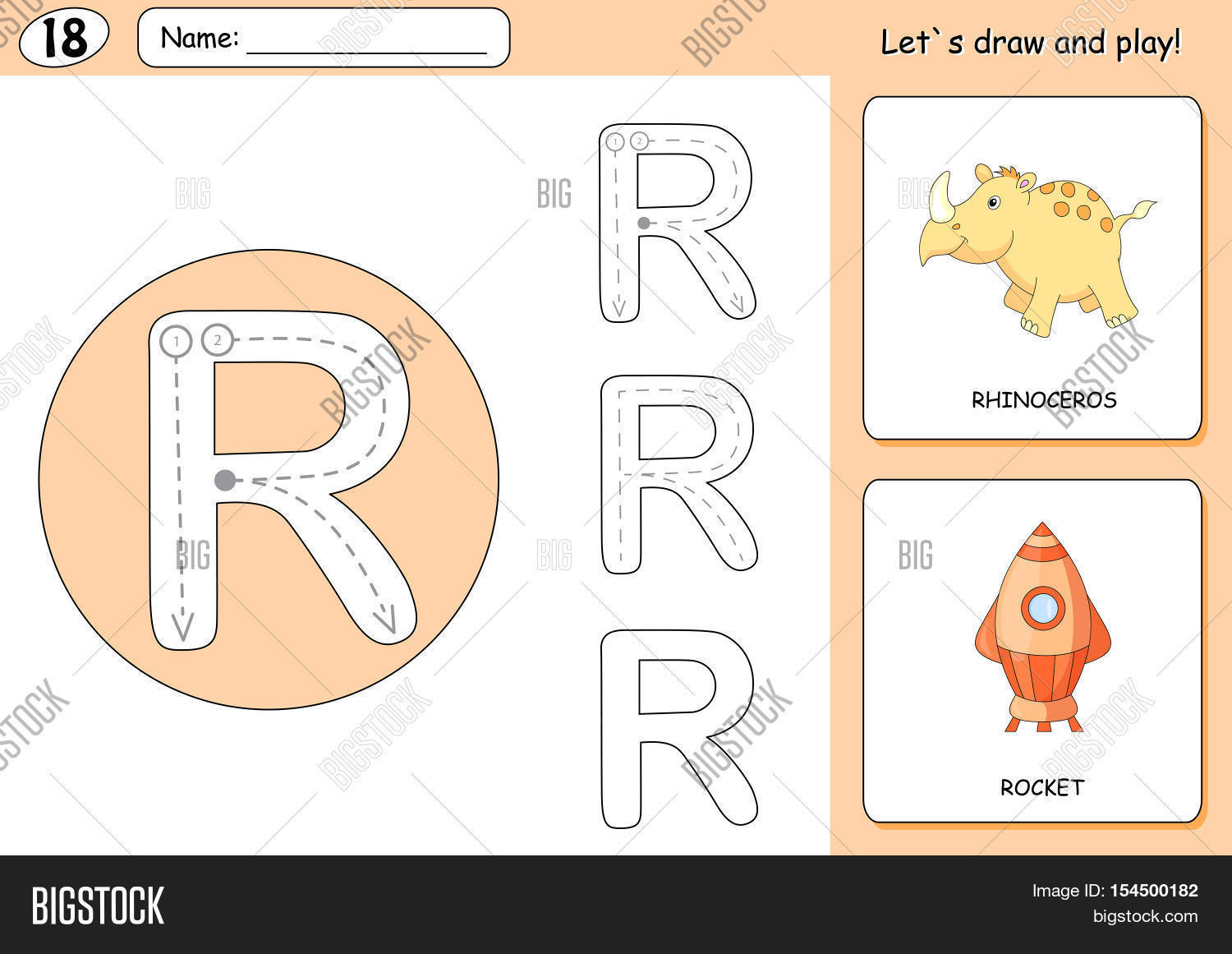 cartoon rhinoceros rocket vector u0026 photo bigstock