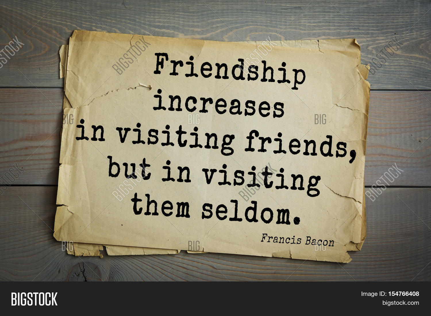 English Quotes About Friendship Top 50 Quotes Francis Bacon  Image & Photo  Bigstock