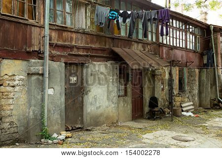 Destroyed Houses In A Poor Quarter For The Poor People. Without Funding Overhaul Is The Destruction