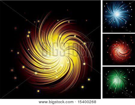 Ray vortex vector background.