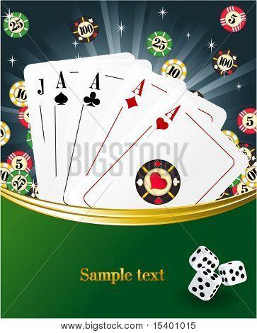 Casino abstract. Vector template.