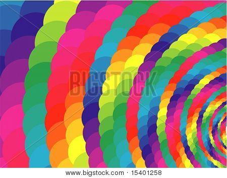 Rainbow vortex. Vector background.