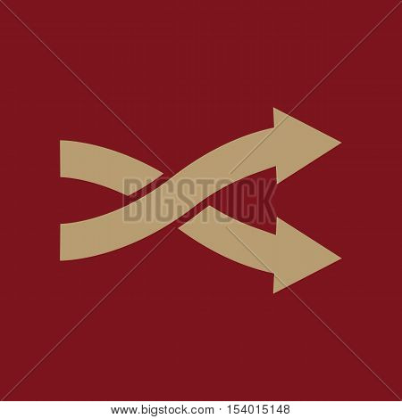 The intersecting arrows icon. Exchange and turn, cross symbol. Flat Vector illustration